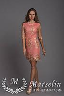 Женское приятное кружевное платье