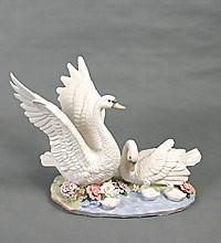 Недорогие фарфоровые статуэтки птиц (голуби, лебеди, совы и др)