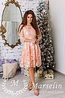 Женское романтическое платье ажурное кружево