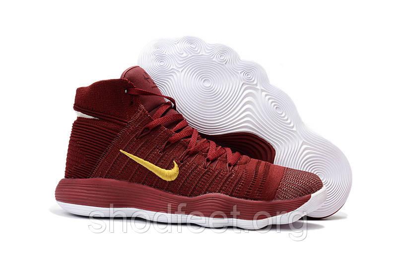 Чоловічі баскетбольні кросівки Nike Hyperdunk 2017 Flyknit Wine Red