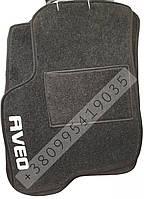 Ворсовые коврики Chevrolet AVEO  - эконом - черный