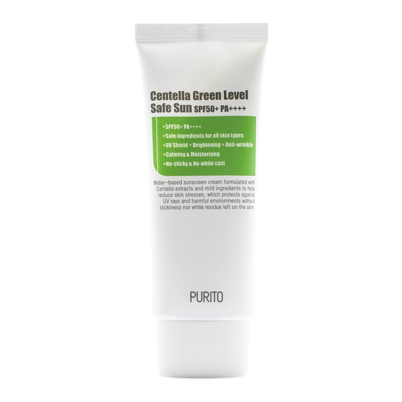 Purito Centella Green Level Safe Sun Cream SPF50 Солнцезащитный крем с центеллой