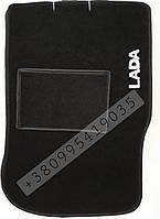 Ворсовые коврики  ВАЗ 2108-2199, 2113- 2115 LADA - черные- эконом