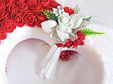 Декор белое сердце с розами для свадебных машин / авто украшение, фото 2