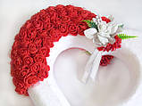 Декор белое сердце с розами для свадебных машин / авто украшение, фото 3