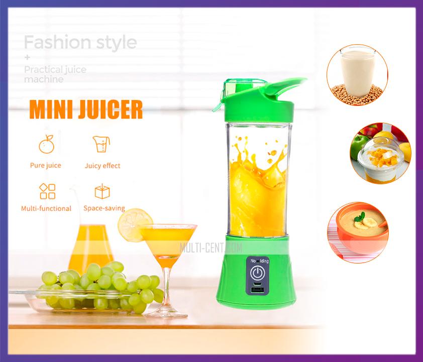Блендер для смузи и коктейлей, портативный блендер, соковыжималка, Smart Juice Cup Fruits USB 380 мл.