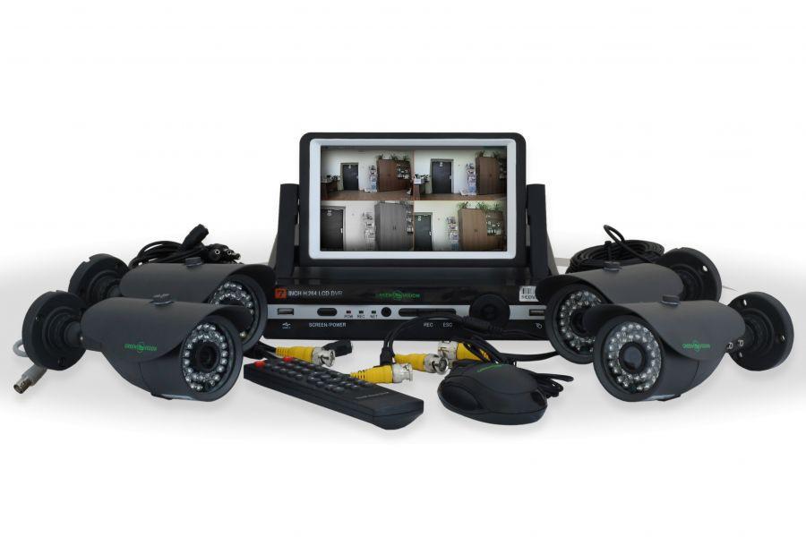 Комплект видео наблюдения GreenVision GV-K-M 7304DP-CM02 LСD