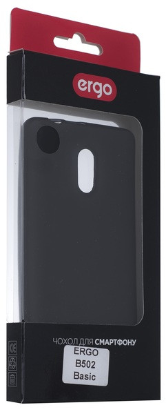 Чехол накладка ERGO B502 Basic - Shiny Black