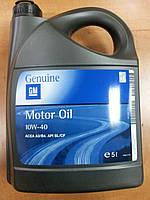 """Полусинтетическое моторное масло """"GM Motor Oil"""" Semi Synthetic 10W-40 5л 1942046 - производства Германии"""