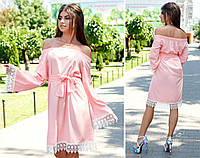 Летнее платье с открытыми плечами , фото 1