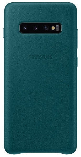 Чехол накладка Samsung S10 Plus, Samsung G975 - Leather Cover Green