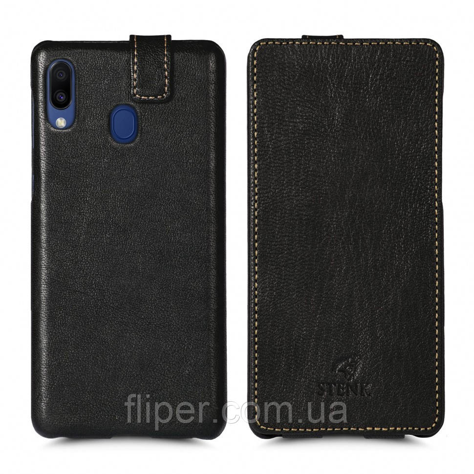 Чехол флип Stenk Premium для Samsung Galaxy M20 Чёрный (62535)