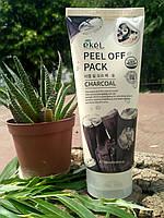 Маска-пленка для очищения пор и избавления от прыщей с древесным углем Ekel Charcoal Peel Off Pack 180ml