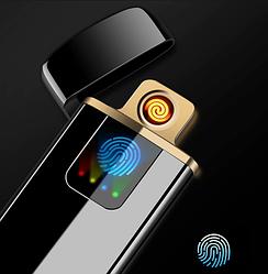 USB зажигалка спиральная LIGHTER FIRE, сенсорная черный