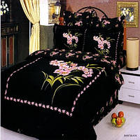Комплект постельного белья Le Vele сатин BUKET black