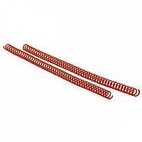 Спираль пластиковая для переплета Agent A4, 3:1, 19 мм, красный, уп/100