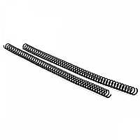 Спираль пластиковая для переплета Agent A4, 4:1, 6 мм, черный, уп/100