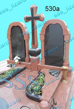 Памятник для двоих из гранита арт.530а