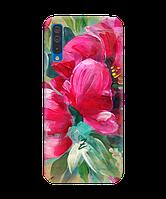Чехол на Samsung Galaxy A50 с рельефным принтом Florabella