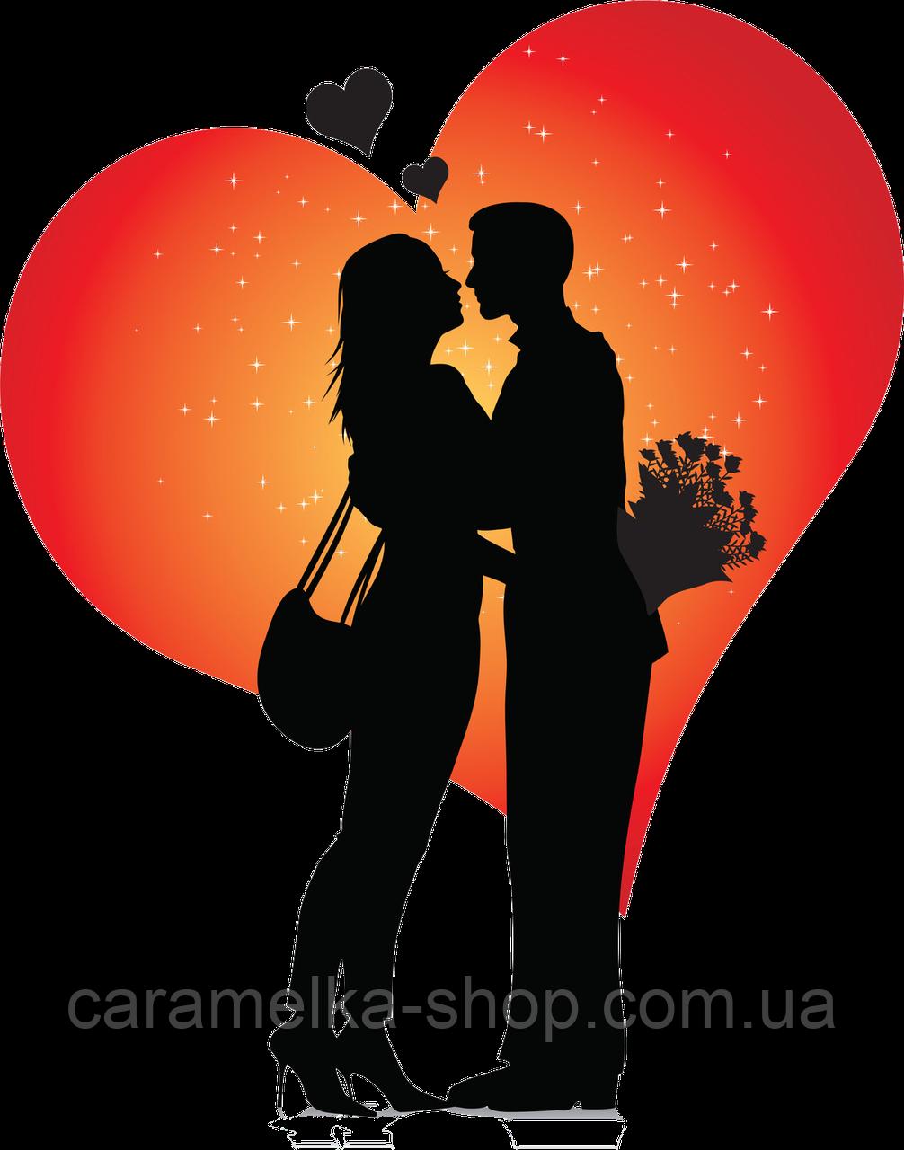 Вафельна картинка любов, для торта
