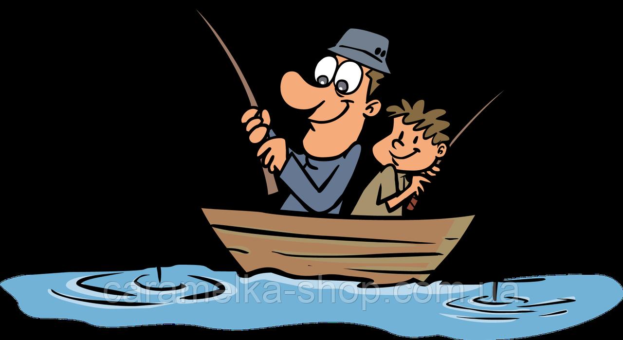 Вафельна картинка Рибалка, рибаку, з днем рибака, для торта