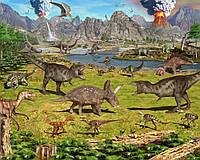 Вафельная картинка Динозавры, для торта