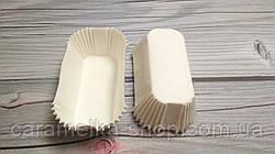 Бумажные формы для эклеров Белые, 50шт