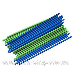 Палочки для Кейк попсов Синие и зелёные микс (пластик) 15 см