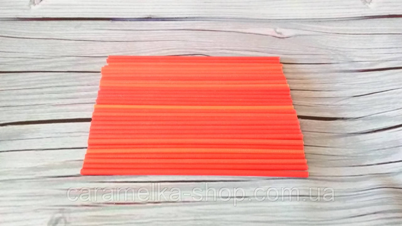 Палочки для Кейк попсов Красные (пластик) 15 см