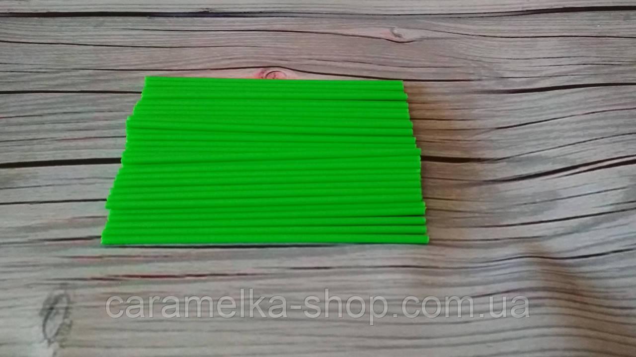 Палички для Кейк попсов Зелені(пластик) 15 см