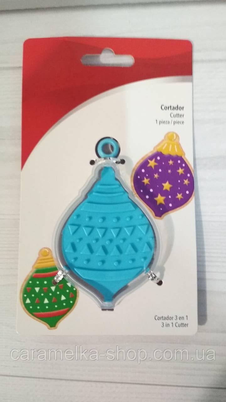 Вирубка для пряника з двостороннім відбитком новорічна іграшка