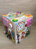 Бизикуб 40*40 см, Bizibord, бізіборд, busyboard, развивающая доска, куб для малышей