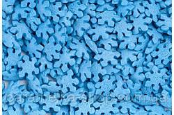 Кондитерська посипання Сніжинки сині