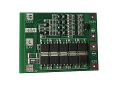 BMS плата защиты 3S Li-Ion 18650 40A стандартная версия
