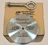 Односторонний поисковый магнит РЕДМАГ F600, усилие 600кг, ❂ТРОС в подарок❂