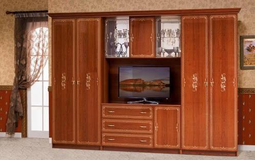 Стінка для вітальні з ДСП/МДФ (гостиная стенка) Версаль 3 (L3266) Світ Меблів