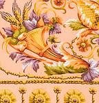 "Платок Павлопосадский шелковый (крепдешин, бахрома) ""Песня ветра"", 130х130 см, фото 3"