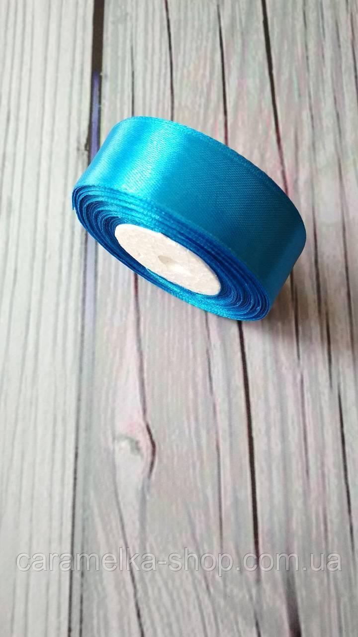 Атласна стрічка 2,5 см Синя