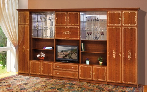 Стінка для вітальні з ДСП/МДФ (гостиная стенка) Версаль 6 (L4166) Світ Меблів