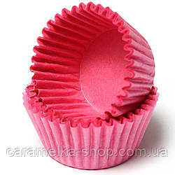 Бумажная форма для кексов, Розовый цвет , 50шт
