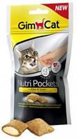 Витаминизированное лакомство для котов и кошек Gimpet Nutri Pockets Сыр + Таурин, 60 г