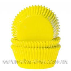 Бумажная форма для кексов, Желтый цвет , 50шт
