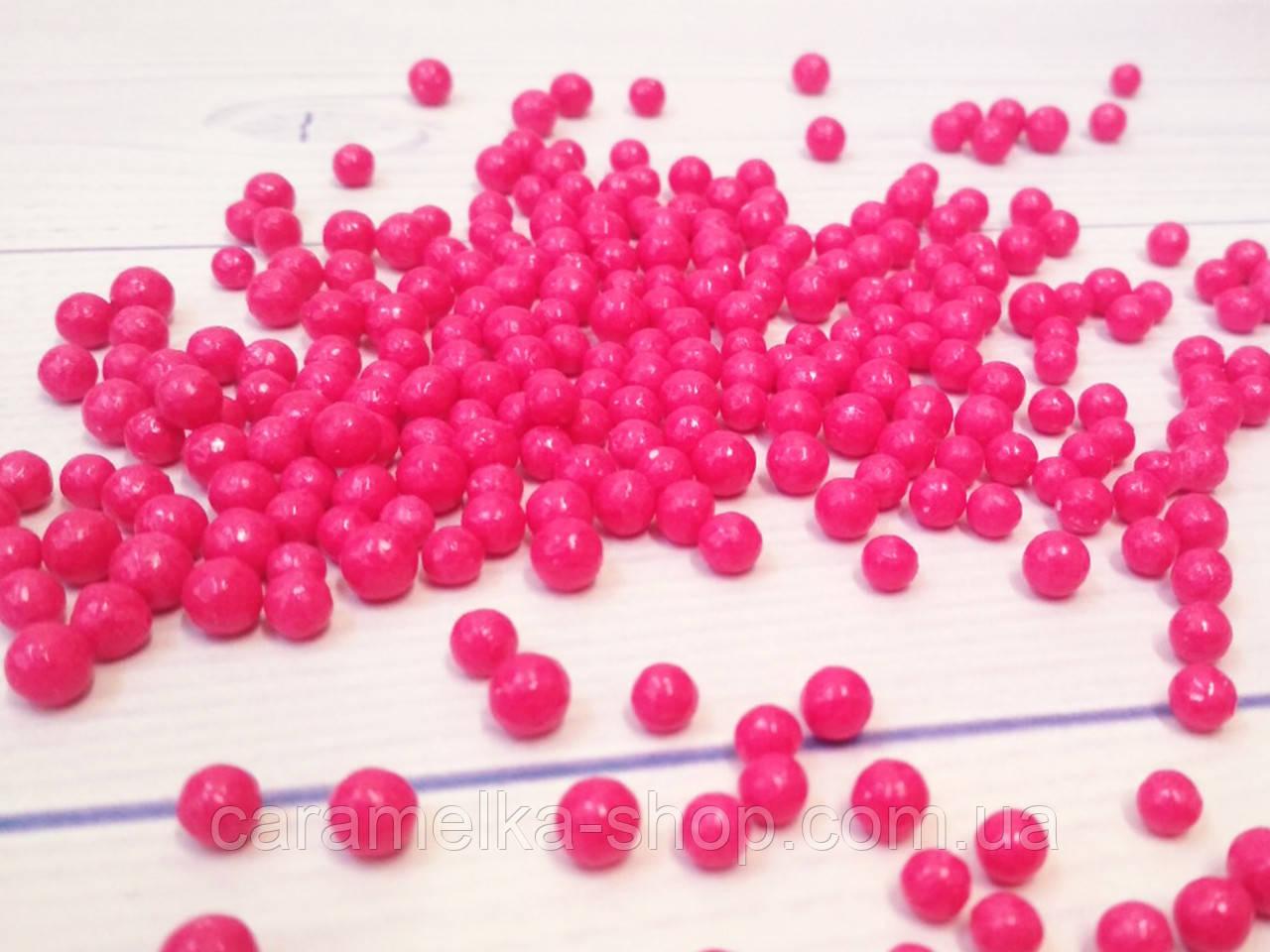 Посыпка кондитерская Драже розовое мелкое