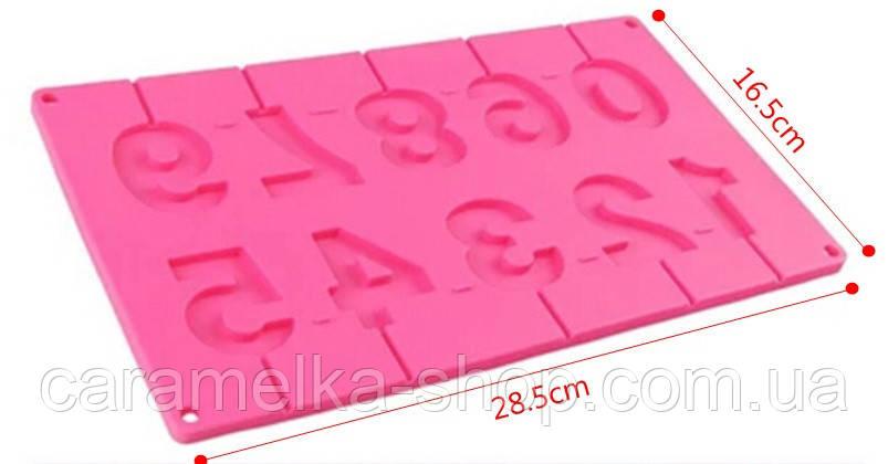 Силіконова форма для цукерок цифри, молд силіконовий для цукерок
