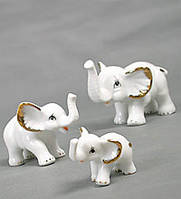 "Фарфоровая фигурка ""Три слона"""