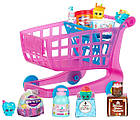 Игровой набор Шопкинс Тележка для супермаркета с продуктами и фигурками Shopkins Small Mart Shopping Cart, фото 2