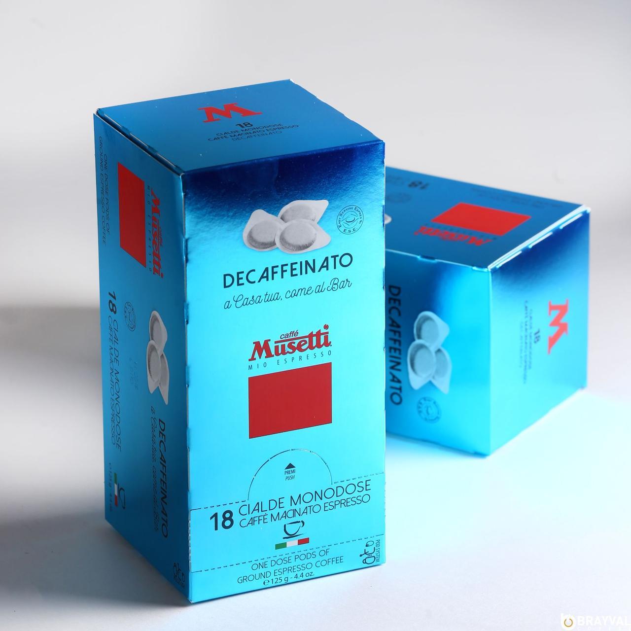 Монодозы Caffe Musetti Decaffeinated (без кофеина) 18 шт