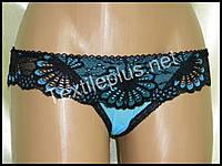Трусики  Coeur Joie черный - голубой 9702