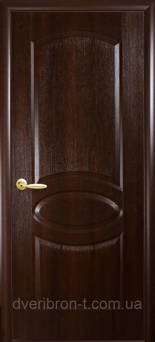 Двери Новый Стиль Овал каштан, коллекция ФОРТИС De Luxe