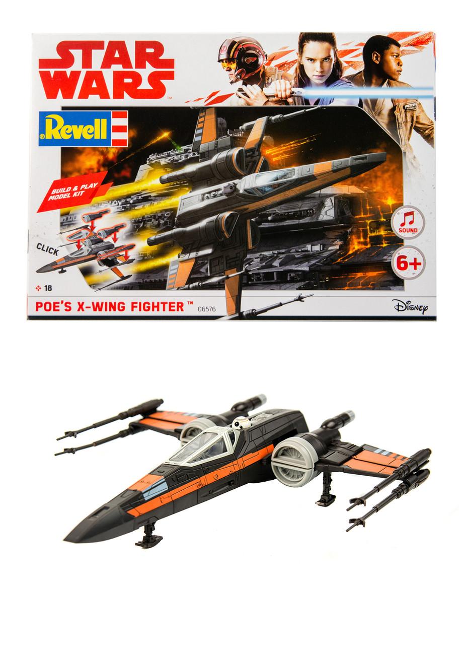 "Конструктор ""Star Wars"" Истребитель X-Wing Revell 1,8х21,8х20см Серый, Оранжевый"